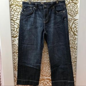 Kut From The Kloth Capri Cropped Wide Leg Jeans